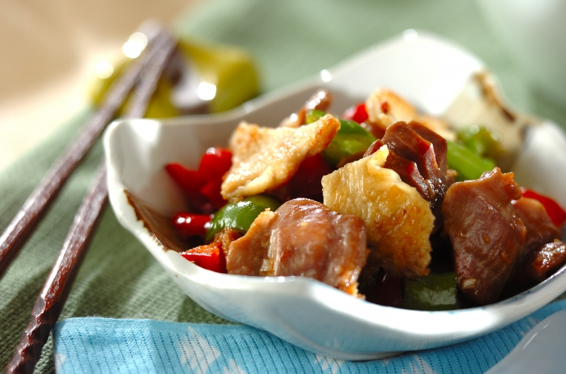 砂肝とピーマンの鶏油炒めの作り方の手順