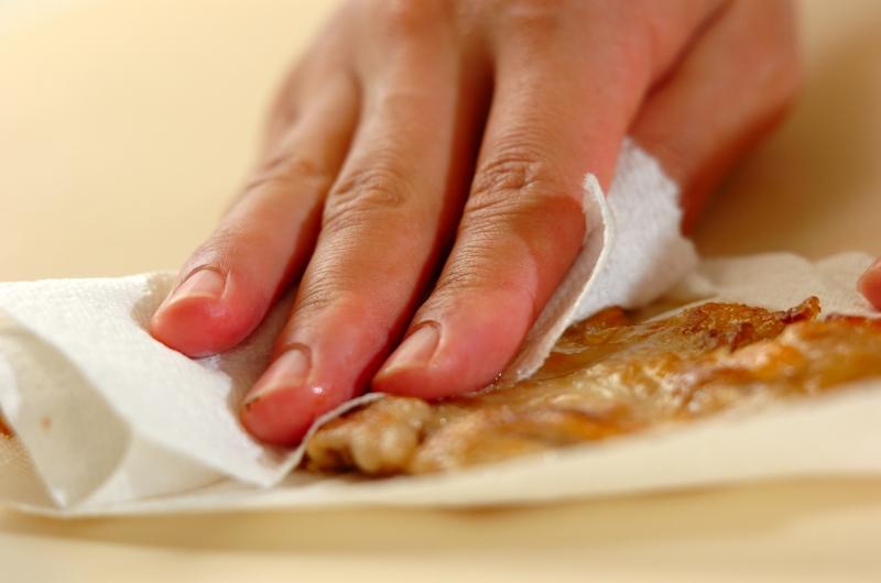 砂肝とピーマンの鶏油炒めの作り方の手順6