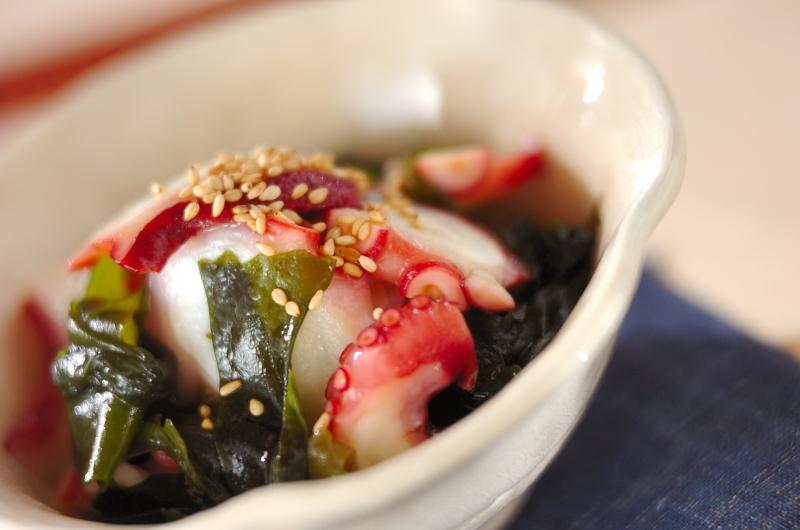 タコとワカメの中華風甘酢和えの作り方の手順
