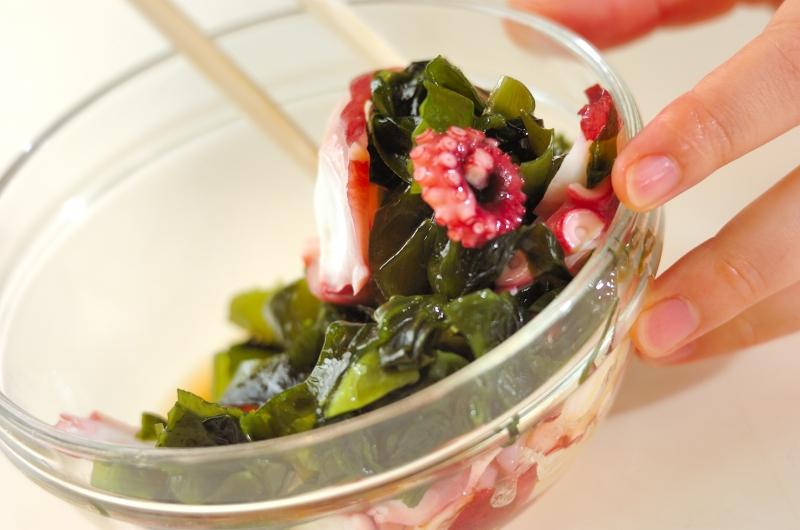 タコとワカメの中華風甘酢和えの作り方の手順2