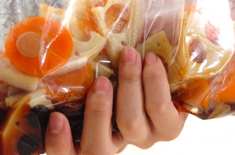 根菜のピリ辛漬けの作り方の手順4