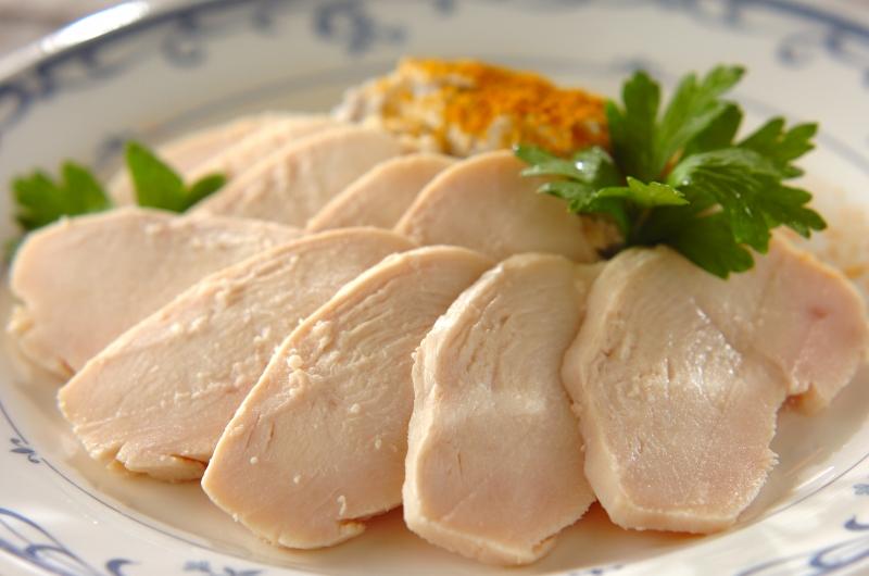 鶏ハムと里芋ピューレの作り方の手順
