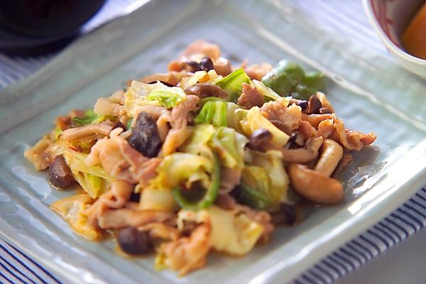 ピリ辛!豚肉とたっぷり野菜のみそ炒めの作り方の手順