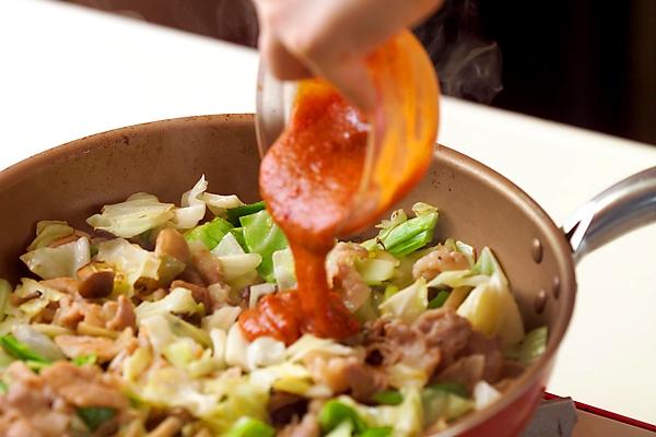 ピリ辛!豚肉とたっぷり野菜のみそ炒めの作り方の手順9