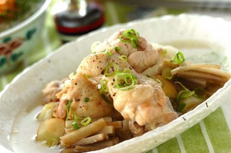 サムゲタン風鶏手羽元煮込みの作り方の手順