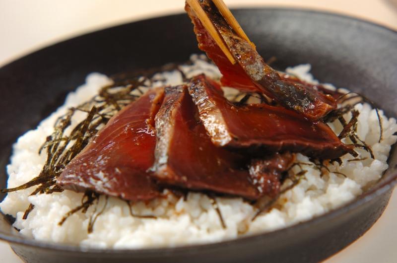 カツオの香味漬け丼(漬け時間1時間)の作り方の手順5