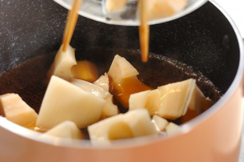 レンコンとツナの煮物の作り方1
