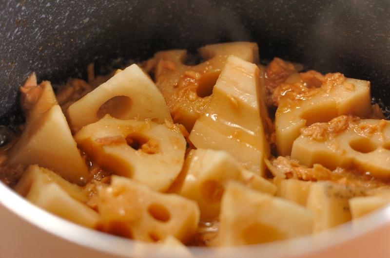レンコンとツナの煮物の作り方の手順3