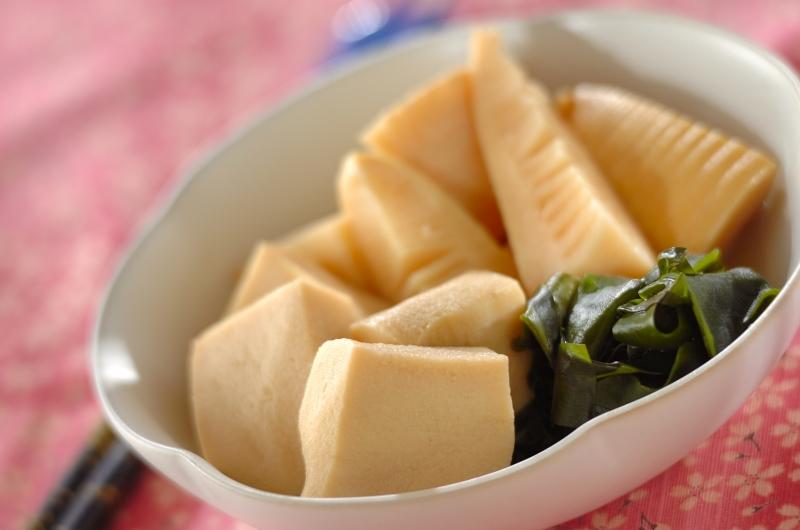 タケノコと高野豆腐の炊き合わせ