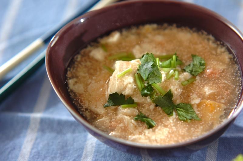 豆腐のあったかタラコあんの作り方の手順