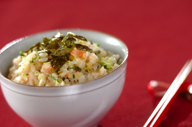 秋のおみ漬けとタラコの混ぜご飯