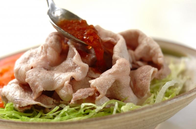 冷しゃぶの梅肉ソースの作り方の手順4