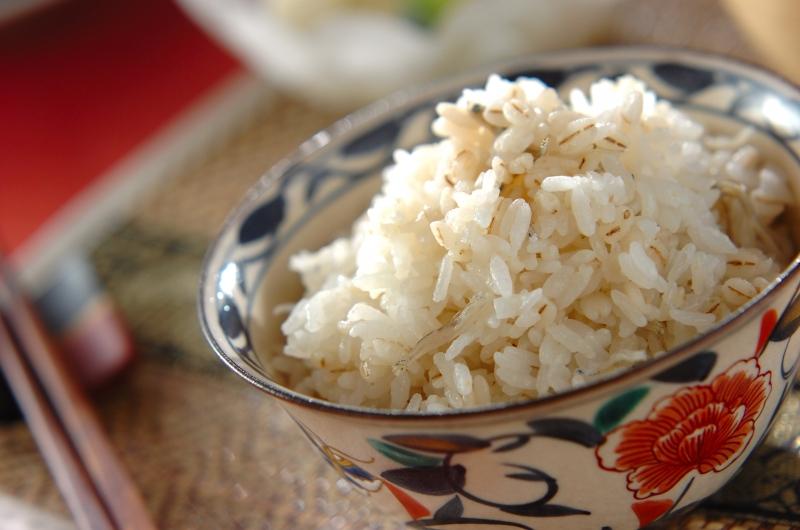 麦入りジャコご飯の作り方の手順
