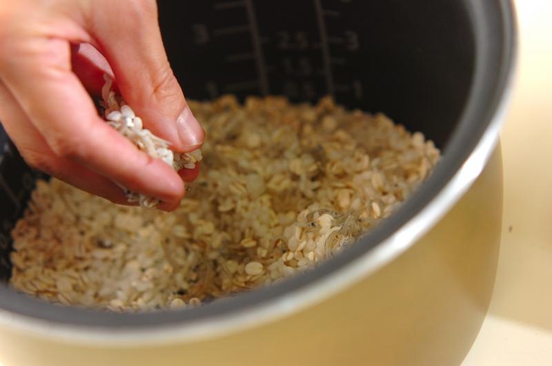 麦入りジャコご飯の作り方の手順2